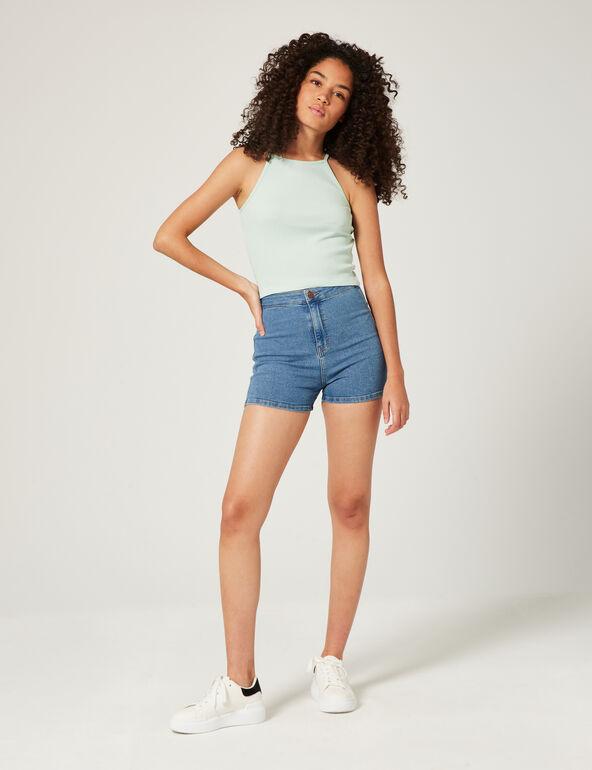 High-waisted jegging shorts
