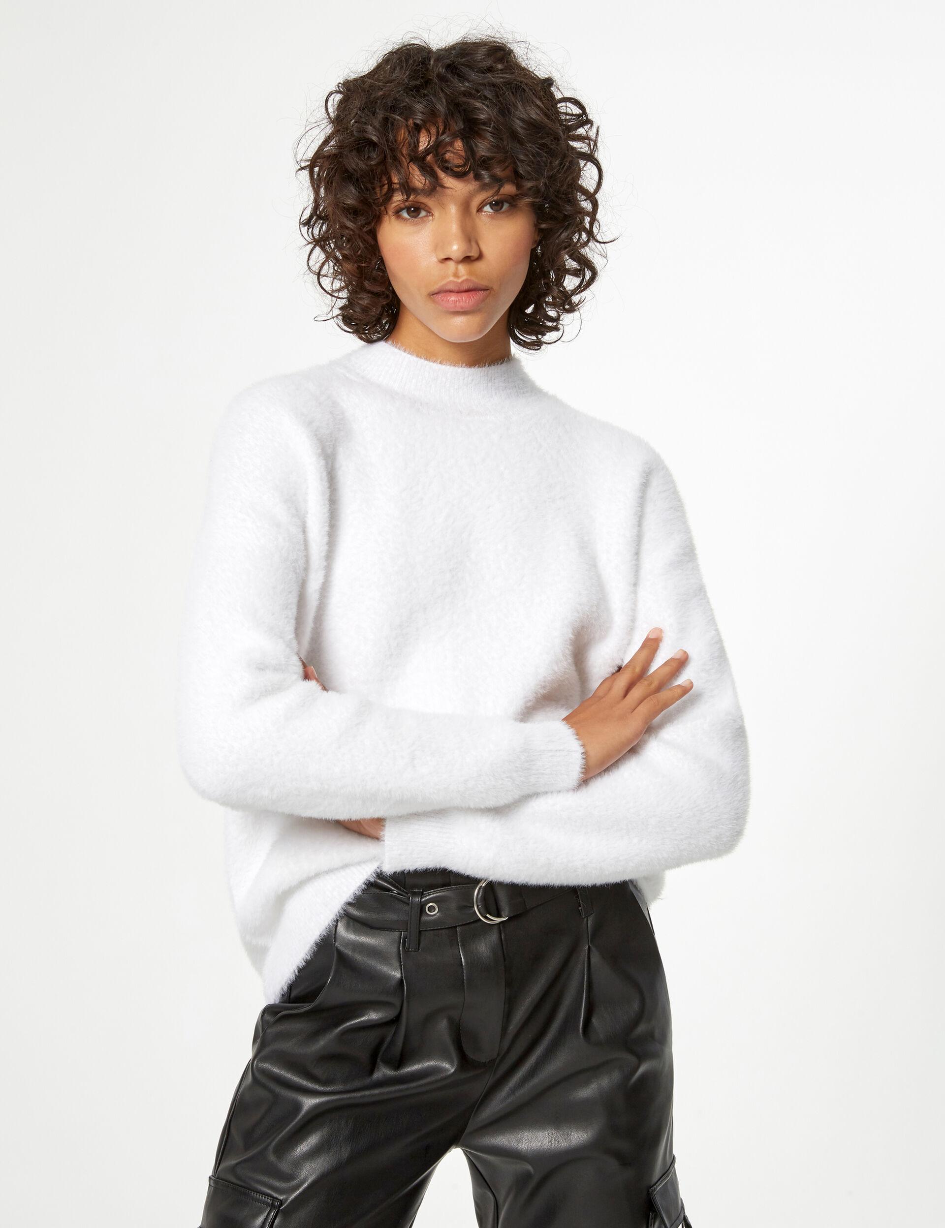 Mohair-effect jumper