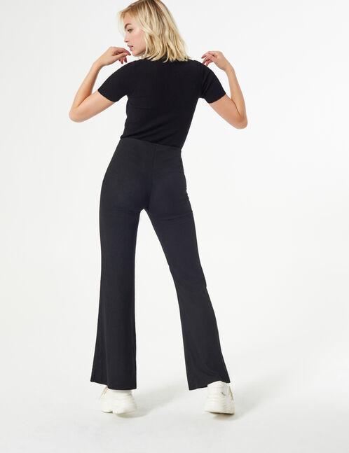 pantalon en crêpe évasé