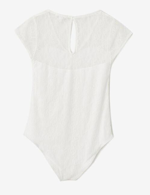Cream lace bodysuit