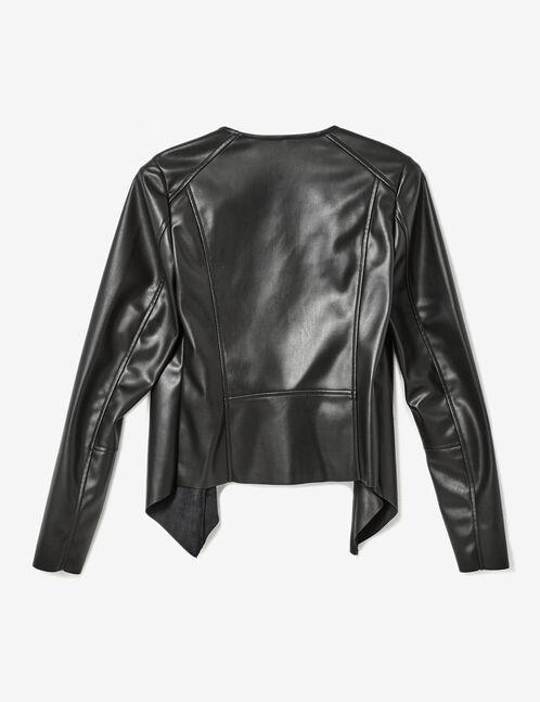 veste jetée simili noir