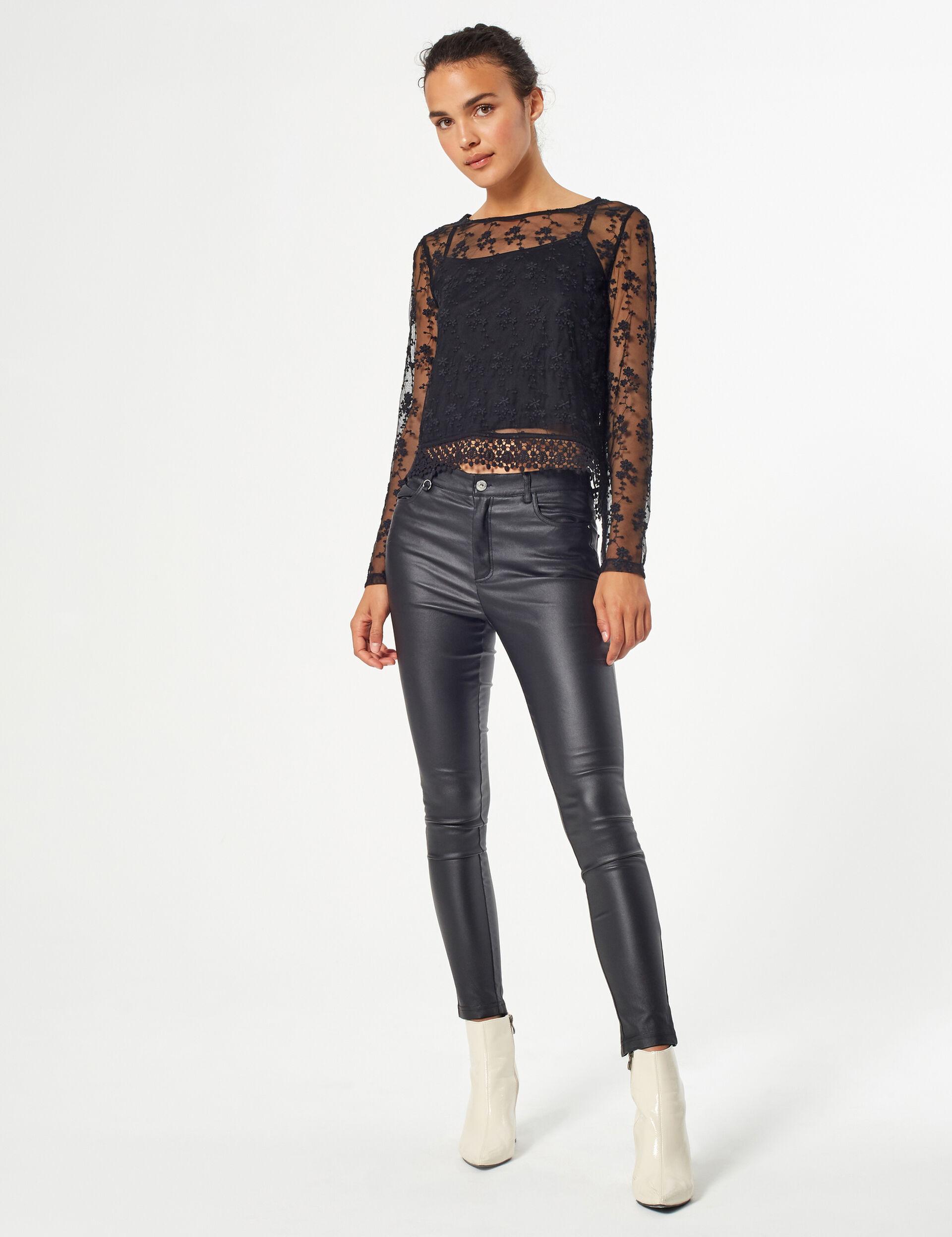 Pantalon skinny enduit