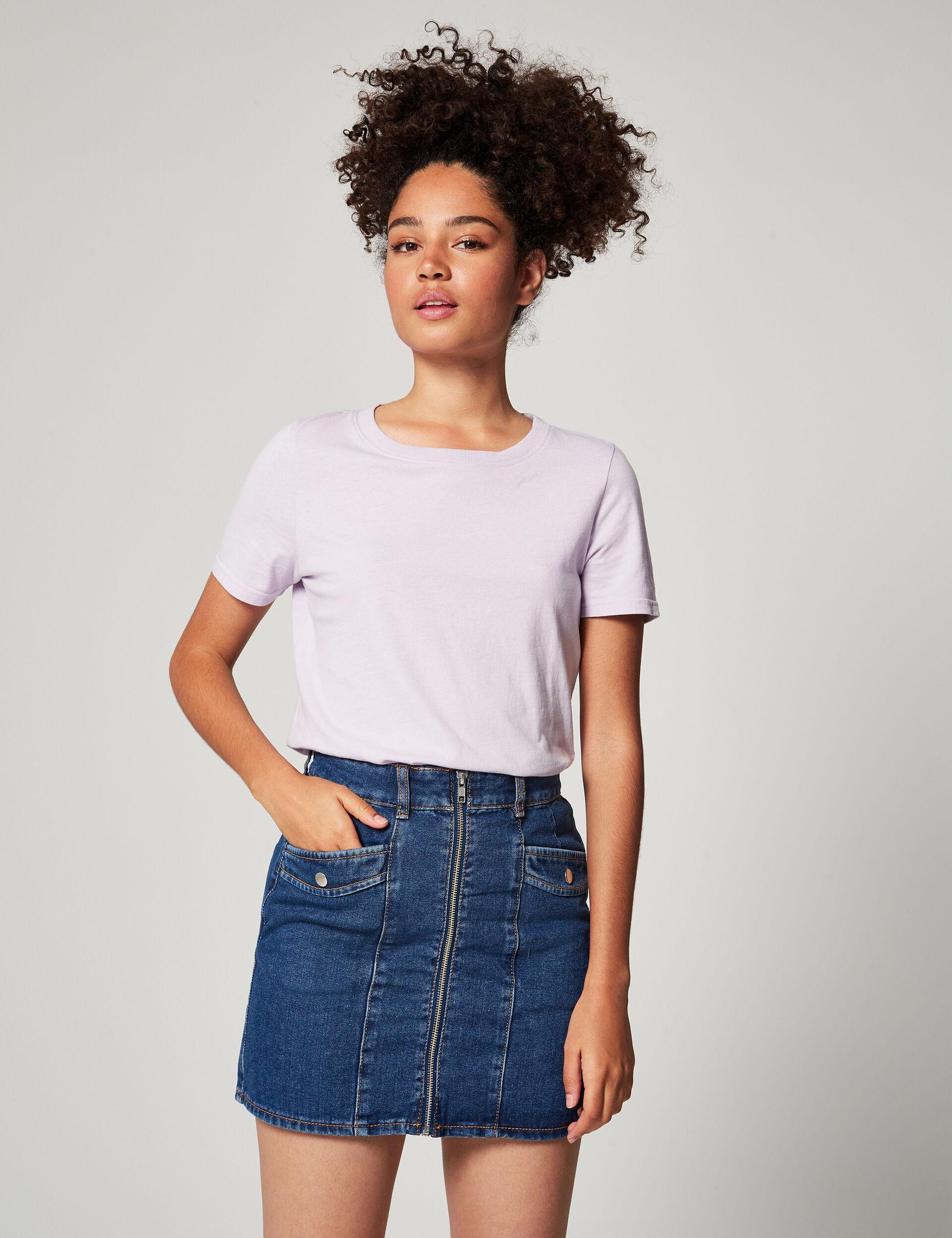 Jupe en jean zippée