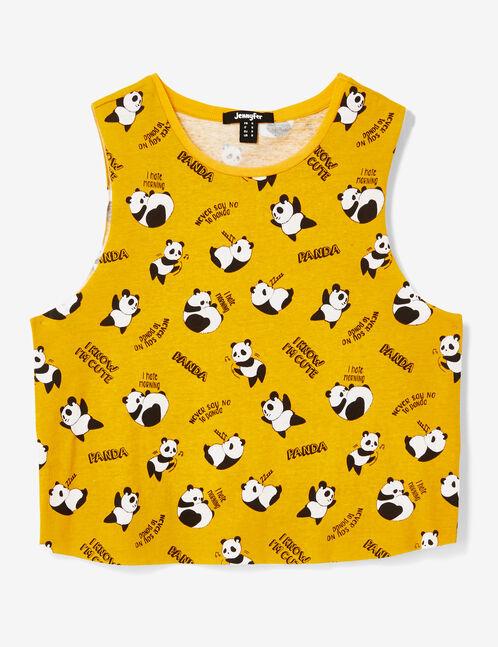 débardeur crop panda ocre
