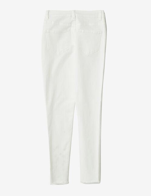 pantalon avec oeillets blanc
