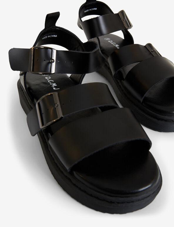 Imitation-leather sandals