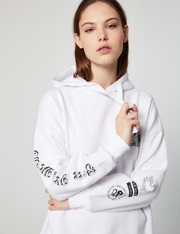 Sweatshirt dress with hood