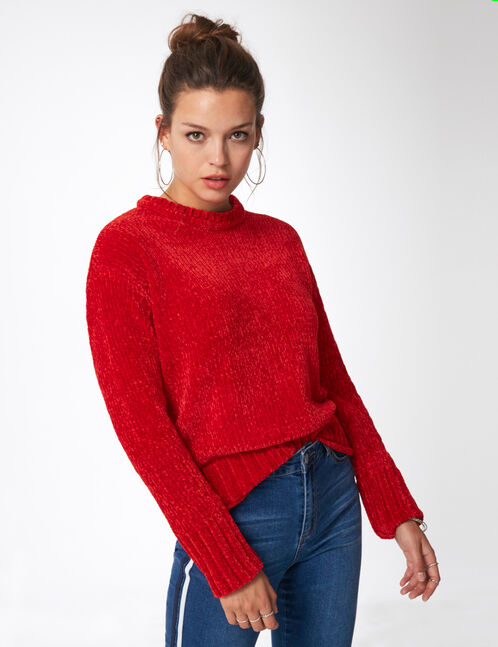 Red chenille jumper
