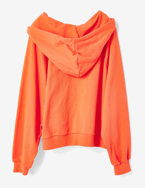 sweat à capuche corail