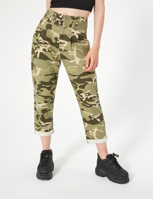 pantalon camouflage kaki