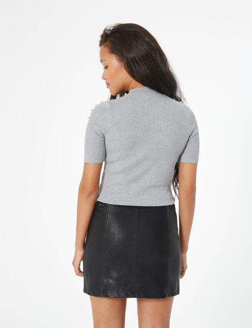 jupe avec boucles noire