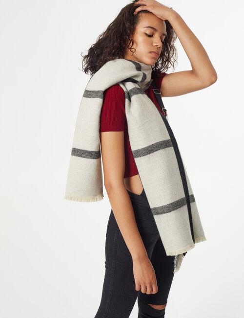 Checked plaid scarf