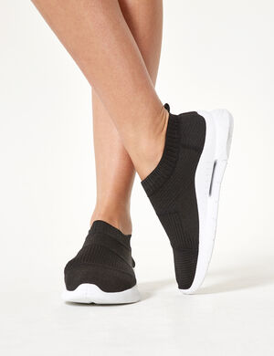 baskets chaussettes noires