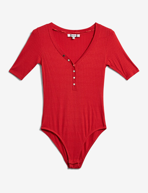 body avec boutons rouge