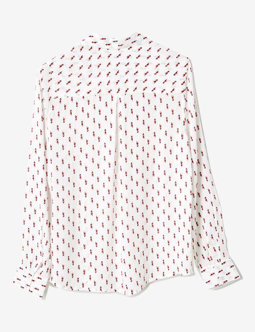 Cream geometric print shirt