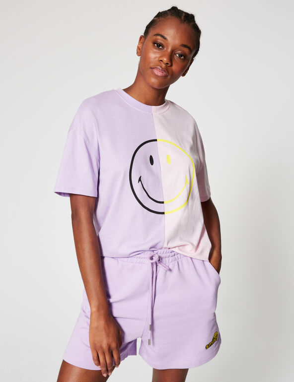 Two-tone Smiley T-shirt