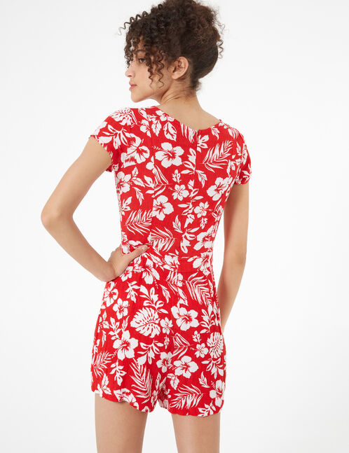 floral loose-fit playsuit
