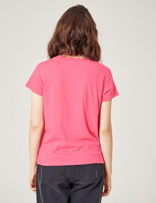 Basic fuchsia T-shirt