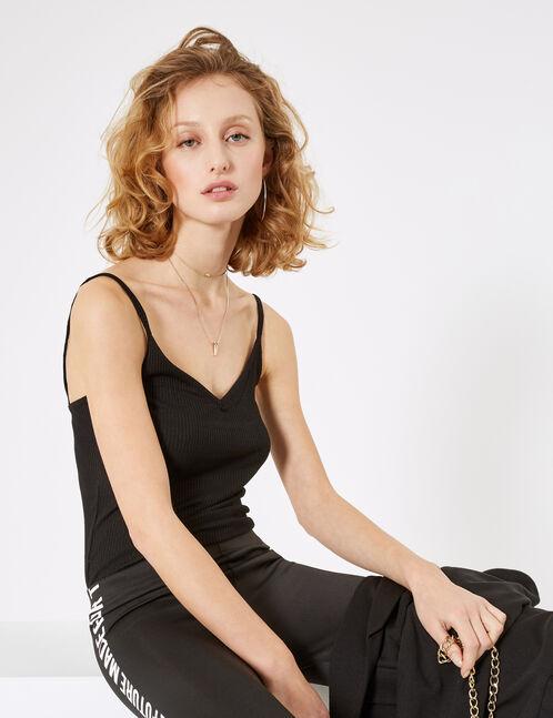 Basic black camisole