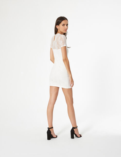 robe ajustée en dentelle