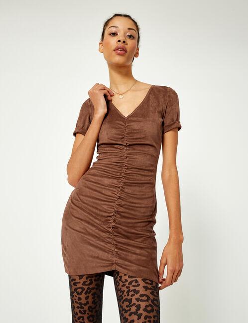 robe suédine camel