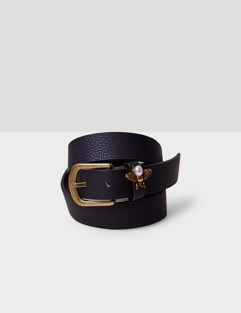 ceinture avec abeille noire