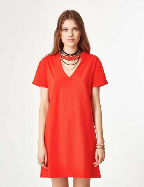 robe tee-shirt rouge