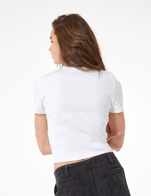 tee-shirt côtelé avec zip