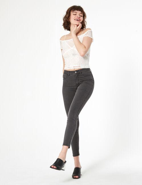 jean rayé super skinny