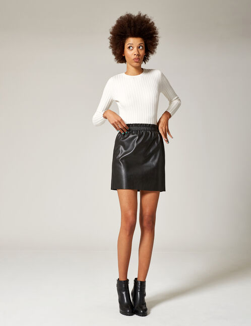 Black ruched skirt