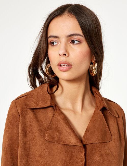 veste suédine camel