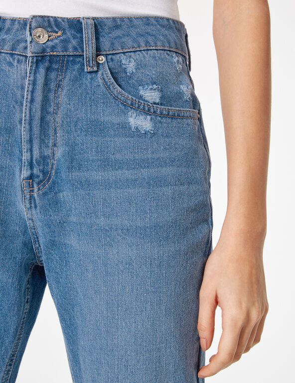 Medium blue high waisted mom jeans