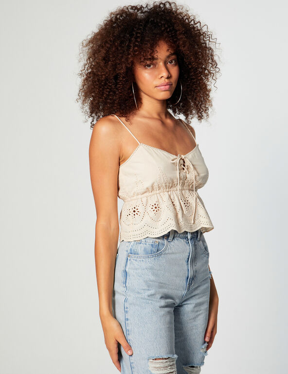 Broderie anglaise cami top