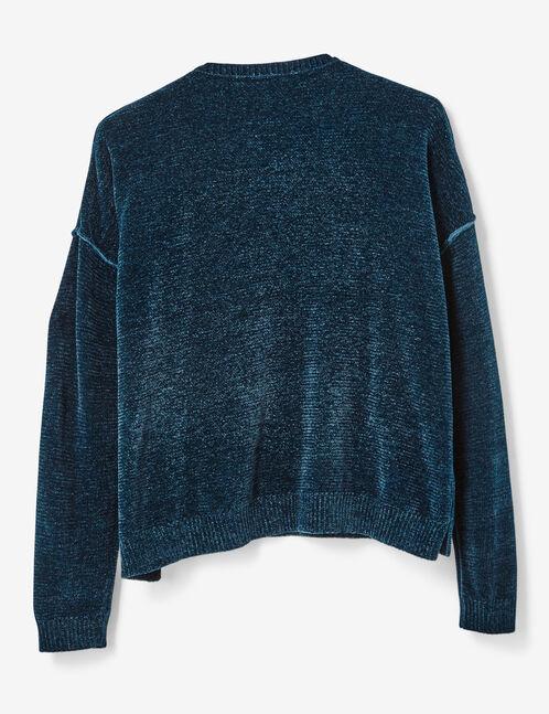 Navy blue chenille jumper