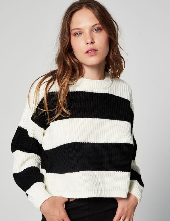 Striped cropped jumper
