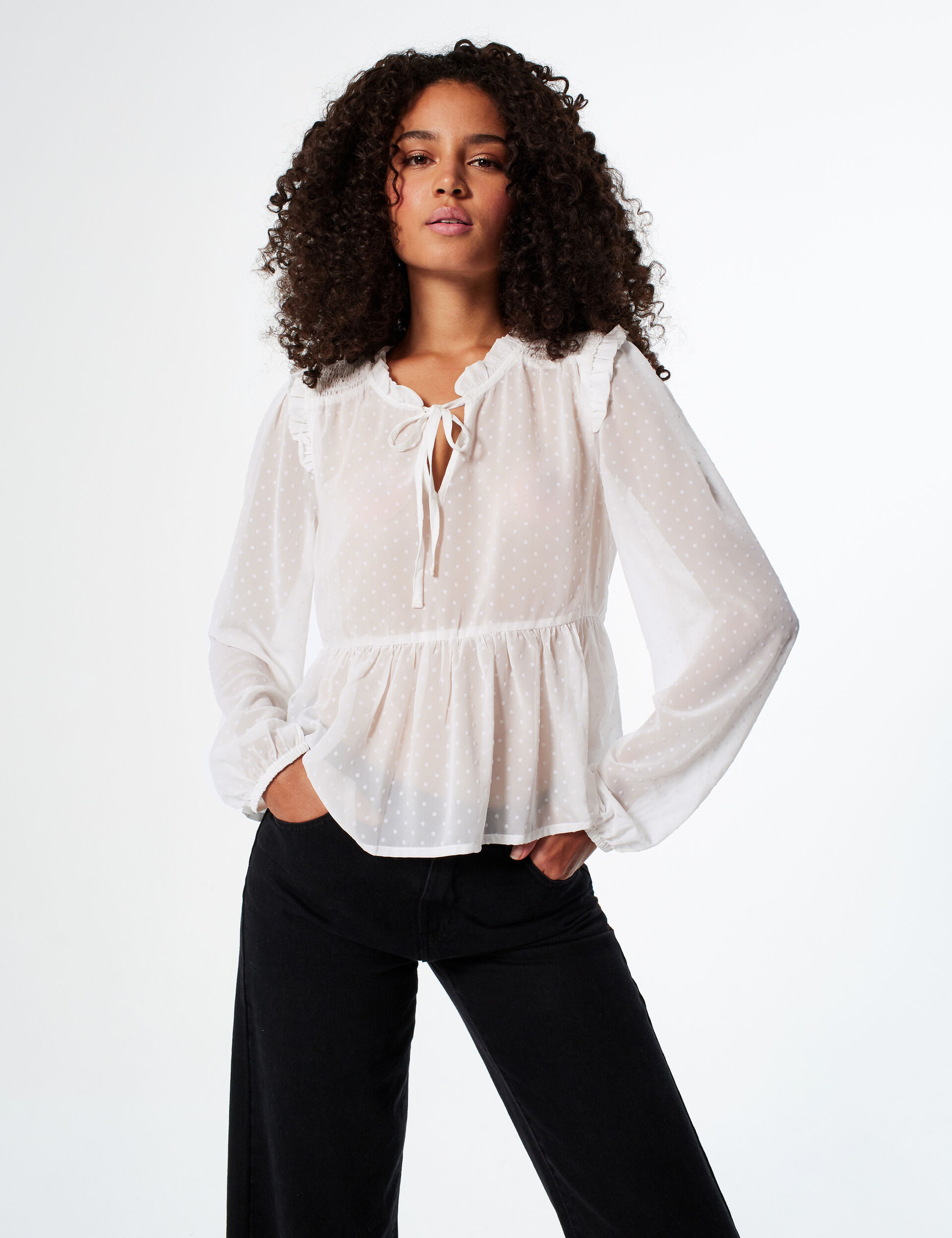 Blouse à volants