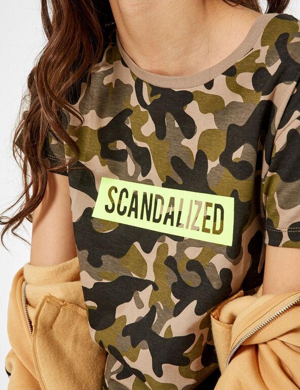Khaki camouflage t-shirt