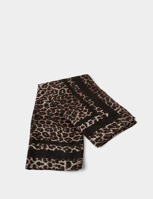 foulard léopard beige et noir