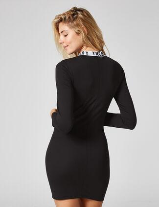 robe zippée trendy noire robe zippée trendy noire ac742813c467