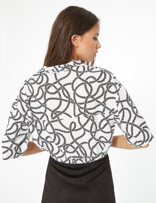 cord printed shirt