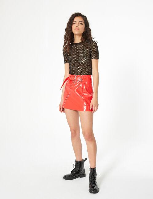 crochet mesh top
