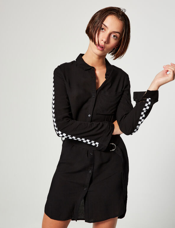 Shirt dress with band detail