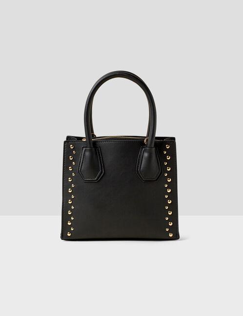 sac à mains avec clous noir
