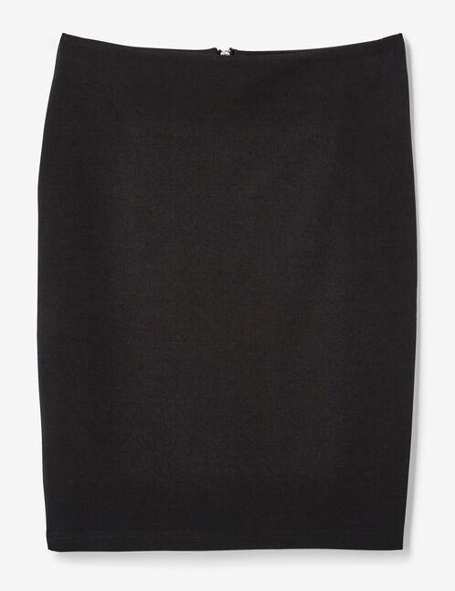 Black zipped tube skirt