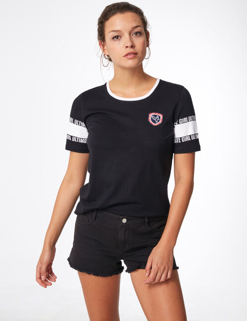 """Black and white """"ultimate girl"""" T-shirt"""