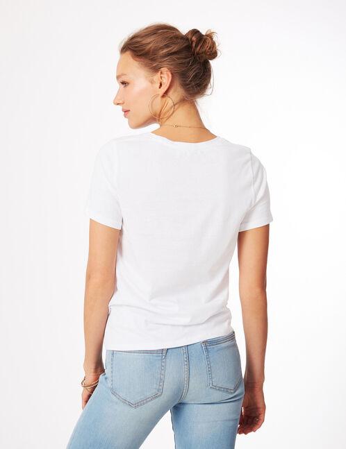 tee-shirt nothing more blanc