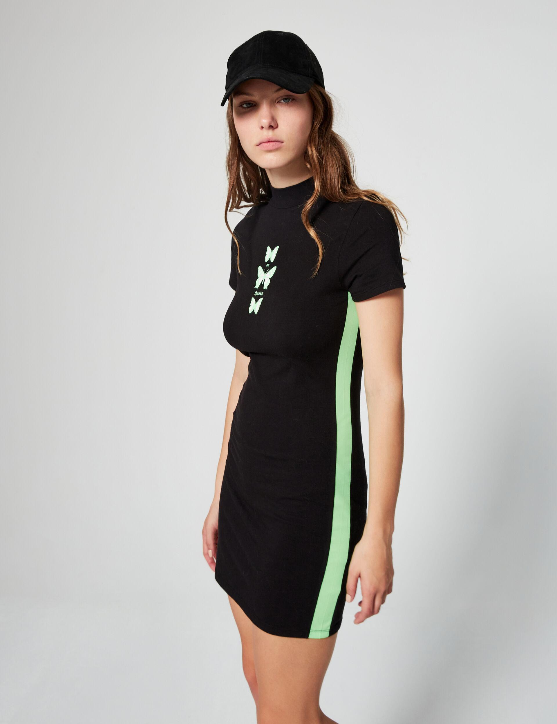 Dress with glow-in-the-dark motifs