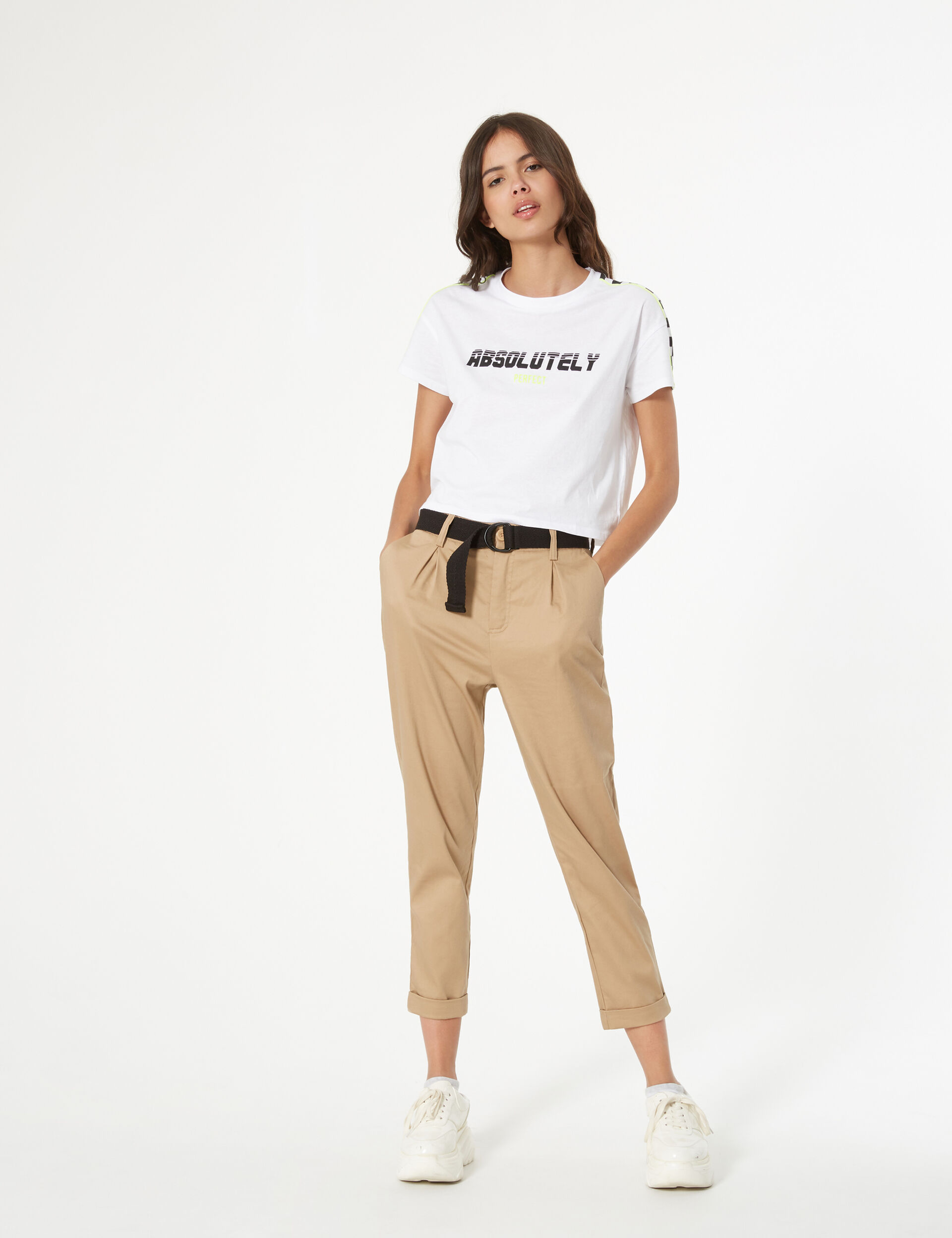 Tee-shirt imprimé à damier
