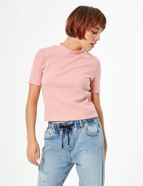 Tee-shirt col montant
