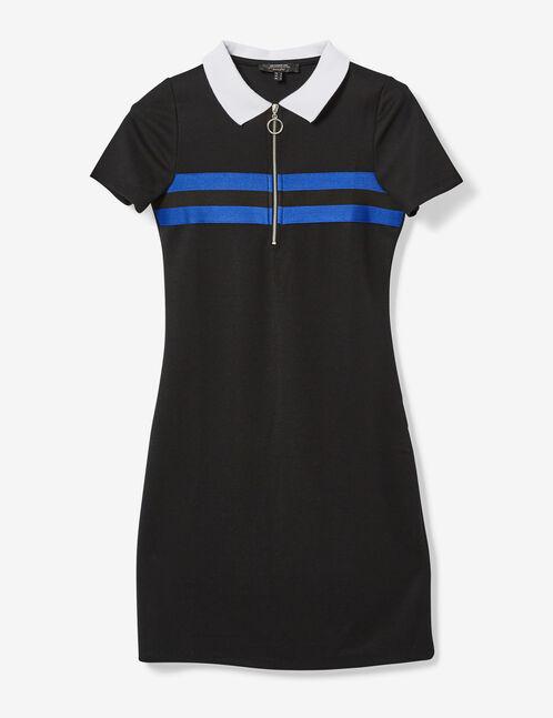 Black and blue sporty dress